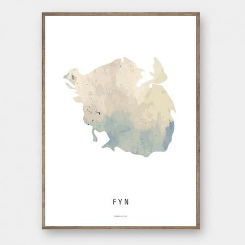 Fyn watercolor kort plakat Creative Dot