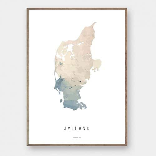 Jylland watercolor kort plakat Creative Dot