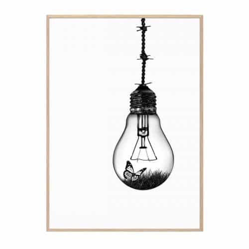 Lightbulb Hang It Up Plakat Creative Dot