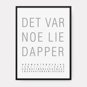 DIALEKT PLAKAT LIE DAPPER CREATIVE DOT