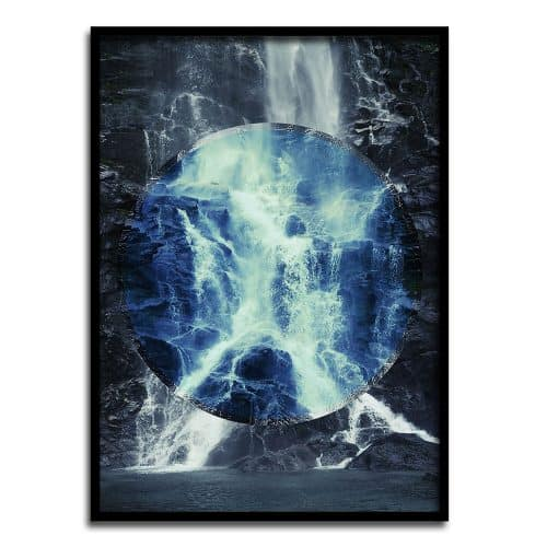 WATERFALL Plakat af Posternality Creative Dot