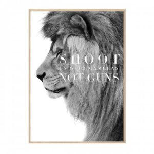 LION PLAKAT HANG IT UP CREATIVE DOT