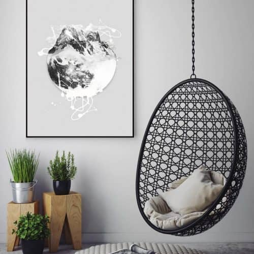 Moon plakat Hang It Up Plakat Creative Dot